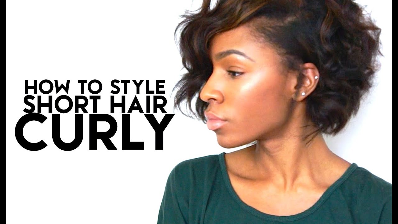 How To Style Short Hair Curly Vickylogan Youtube