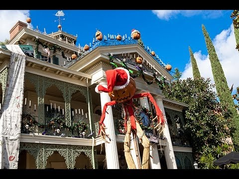 HAUNTED MANSION HOLIDAY 2012 (Full Ride) Disneyland Nightmare Before Christmas POV 1080p HD