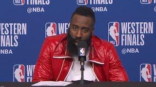 James Harden Postgame Interview - Game 7 | Warriors vs Rockets | May 28, 2018 | 2018 NBA West Finals