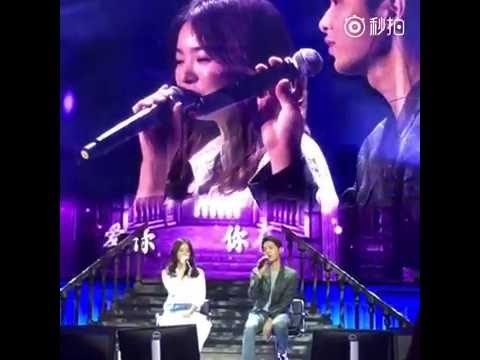 [Fancam]160617 송중기 송혜교 송송커플 Song Joong Ki Song Hye Kyo sing 'Always' Song Song Couple at Chengdu FM