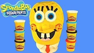 SPONGEBOB SQUAREPANTS Giant Play Doh Surprise Egg -  Patrick Big Hero 6 Baymax