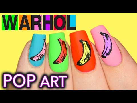 Boyfriend does voiceover | Andy Warhol Banana POP Art Nails