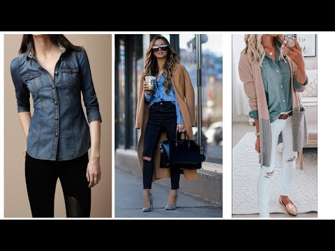 Stylish denim shirts//how to style yourself with denim shirts