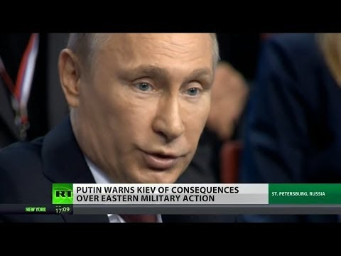 "Putin warns of ""consequences"" if Ukraine military continues crackdown"