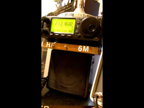 Icom 706 with Gap vertical at 100 watts.