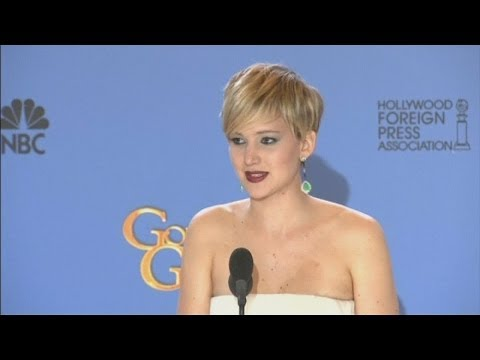 Jennifer Lawrence jokes about getting drunk after winning Golden Globe