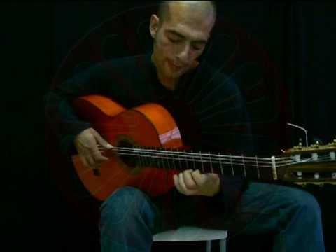 Picado (3 fingers) - Gerardo Nuñez exercise - גיטרה פלמנקו - תרגיל טכניקה