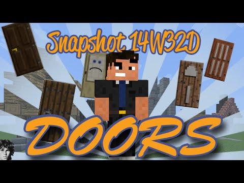 Minecraft 1.8 Snapshot 14W32D Doors Showcase! ...I HATE THEM!