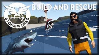 Stormworks: Build and Rescue - UPDATE SURVIVAL - Dano, Motores Realistas, Tsunamis e Tubarões!!