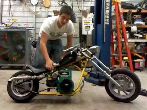 custom mini chopper 5hp briggs