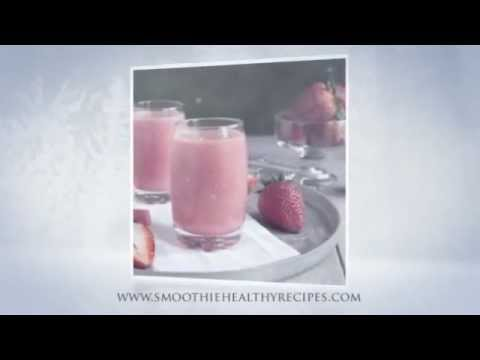 Pink Smoothie With Watermelon, Strawberries and Cherries - healthy smoothie recipes
