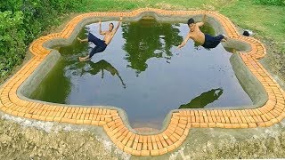 Primitive Daily Life : Build  Underground Swimming Pool