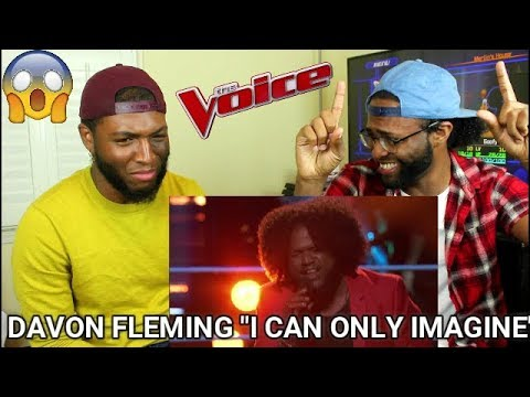 The Voice 2017 Knockout  Davon Fleming: I Can Only Imagine REACTION