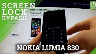 Hard Reset NOKIA Lumia 830 - how to bypass Lock Screen Pattern