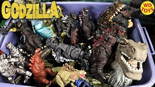 New Giant Huge Box Of Godzilla Surprise Toys Action Figures vs Jurassic Park Unboxing WD Toys