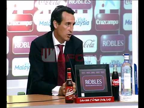 R prensa Unai Emery #SevillaFC - villareal