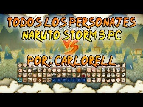Desbloquear todos los personajes en naruto storm 3 full burst PC Rapido y facil
