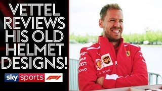 EXCLUSIVE! Sebastian Vettel reviews his old helmets and plays Backgammon!