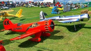 GILMORE TURNER W4X & HUGHES H-1 RACER RC SCALE MODEL AIRPLANE DUO FLIGHT SHOW