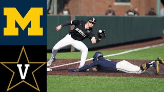 Michigan Wolverines vs Vanderbilt Commodores | College Baseball Highlights