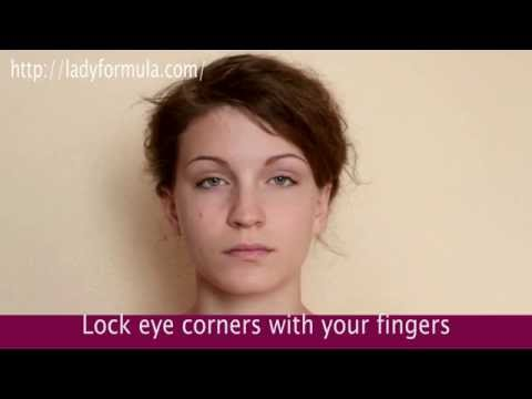 Facial Eye Exercises. How to Tighten Droopy Eyelids and Reduce Wrinkles around the Eyes
