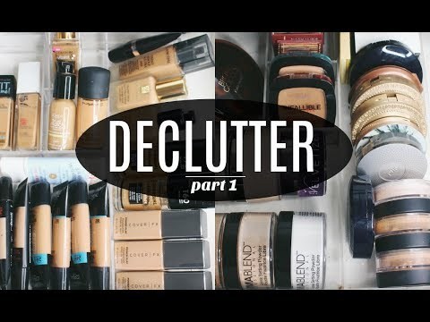 DECLUTTER | Concealers, Primers, Foundations & Bronzers (part 1)