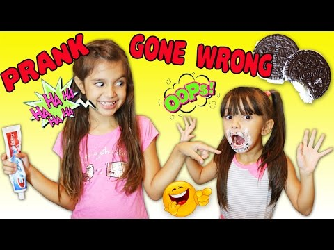 OREO TOOTHPASTE PRANK GONE WRONG! Prank Backfires - Bad Sister Freaks Out