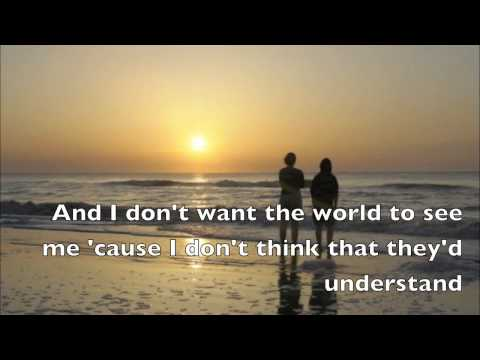 Iris Goo Goo Dolls Lyrics video