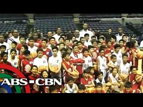 NBA stars treat Yolanda victims with hoops clinic klip izle