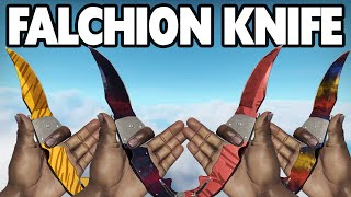 CS:GO - Falchion Knife - All Skins Showcase + Price