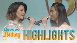 """Magandang Buhay: Kyla and Elaine Duran sing a few lines from """"On The Wings of Love"""""""