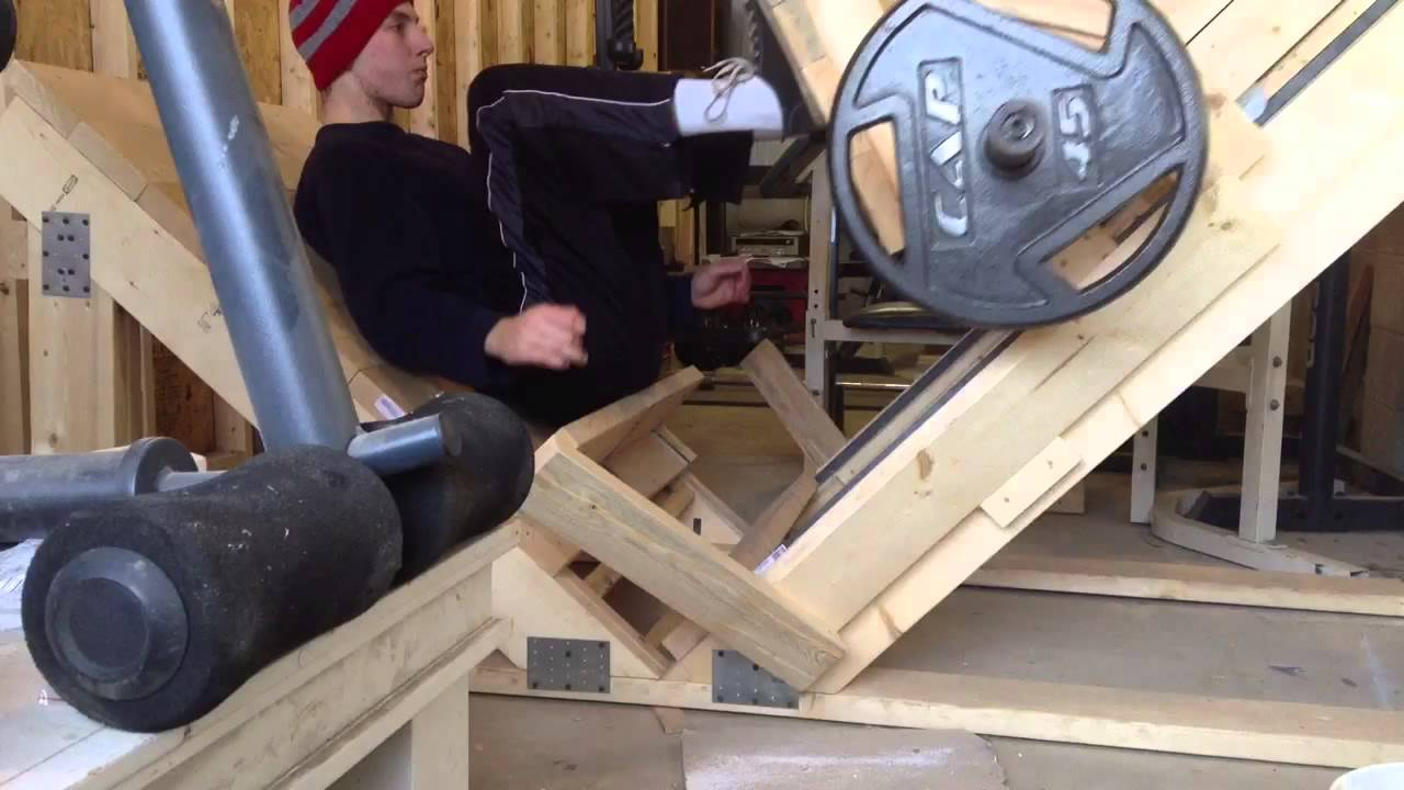 Our Homemade Leg Press Machine Youtube