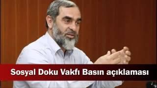 40) Basın Açıklaması - Nureddin Yıldız - Sosyal Doku Vakfı