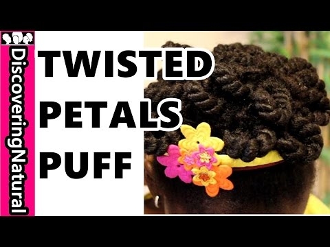 65 * Natural Hair Styles for Kids : Twisted Petal Puff Tutorial