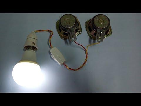 Free energy experiment led light using blades thumbnail
