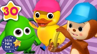Learning Numbers and Animals for Kids | 5 Little Ducks, Monkeys and Monsters | Little Baby Bum