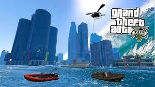 GTA 5 PC Mods - TSUNAMI MOD SURVIVING & EXPLORING! GTA 5 Tsunami Mod Gameplay! (GTA 5 Mods Gameplay)