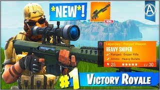 """NEW """"HEAVY SNIPER"""" Gameplay UPDATE! (Fortnite Battle Royale """"Weapon UPDATE"""")"""
