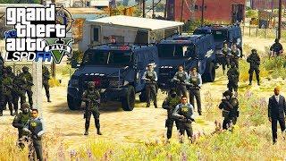 GTA V VIDA POLICIAL | LSPDFR - EQUIPE DA  S.W.A.T. INVADE BOCA DE FUMO E A BALA COME P/ TODO LADO .