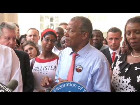 City Councilman Robert Jackson @ UFT News Conference on Co Location Lawsuit   July 18, 2013