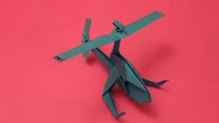 How to make a cool paper helicopter origami: instruction| Mosquito Helicopter