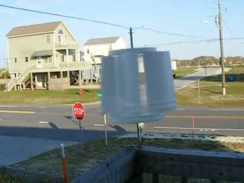 5 Gallon Bucket Vertical Axis Wind Turbine Youtube