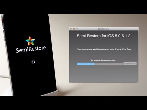 Semi-Restore iOS 6.1.2. 6.1.1. 6.1. 6.0.1. 6.0 iPhone 5. 4S. 4. 3GS. iPad Mini. iPod touch 4/5