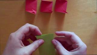 Origami Magic Rose Cube (valerie Vann) - Tutorial (valentines´s Day)