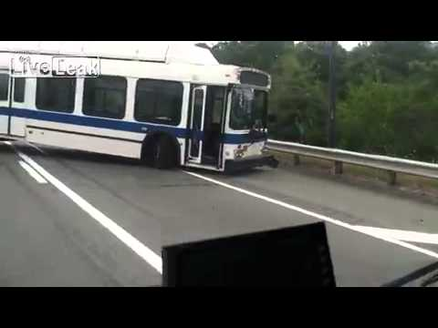 NY Tow Truck Driver Tows A City Bus Sideways.