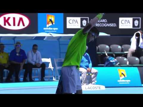 Ferrer racquet crunch - 2014 Australian Open