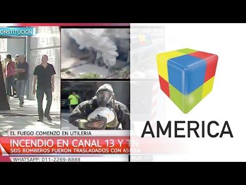 Video: Así fue el incendio en Canal 13 y TN