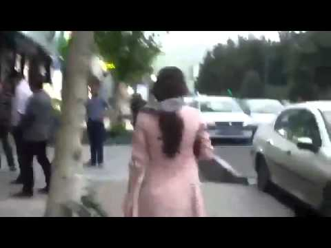 Iranian Girl Defying Hijab (risking Arrest) video