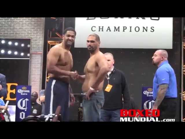 Official Weigh-in: Dominic Breazeale 256.5 vs. Victor Bisbal 241