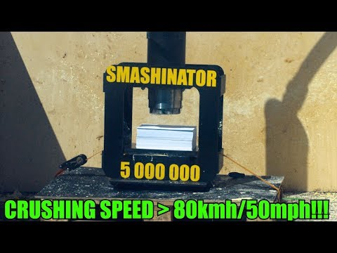 Crushing Non-Newtonian Fluid with World's Fastest Press